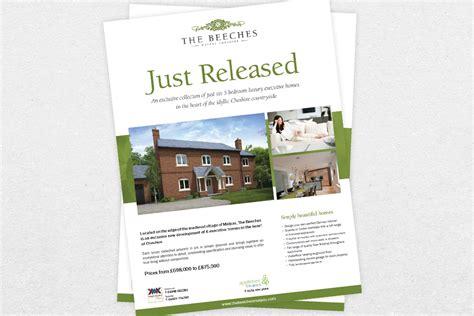 leaflet design for estate agents property flyer design