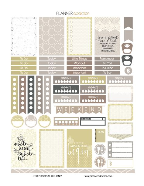 printable planner sticker template free printable planner stickers wedding happy planner