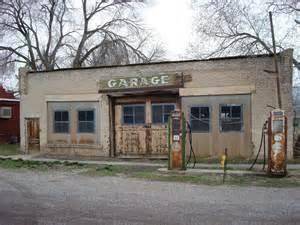 Usa Garage Garage Filling Station Scipio Utah Usa Image