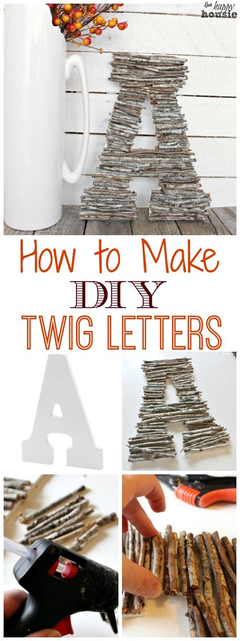 How To Make Paper Letters For Your Wall - how to make diy twig letters the one item challenge