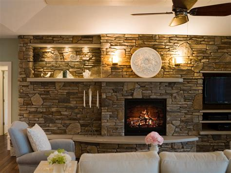 living room with stone fireplace living room design style living room and dining room