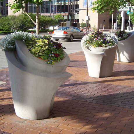 Concrete Security Planters by Planters