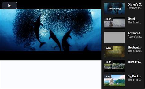 video playlist layout video js 5 s fluid mode and playlist picker video js blog