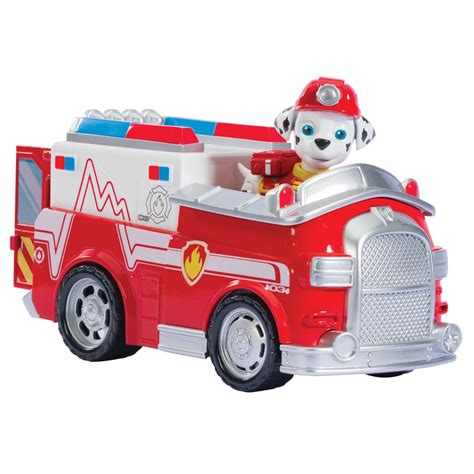Truck Container Robocar Poli And Paw Patrol Termurah spin master paw patrol marshall s emt truck