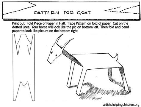 Folding Paper Animals Templates - 1000 images about g is for goat on folk