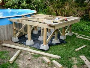 pool deck bauen above ground pool deck framing do it yourself deck