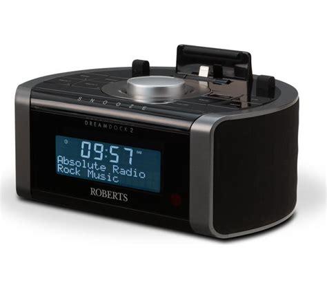 buy roberts dreamdock dab clock radio  apple lightning connector black  delivery
