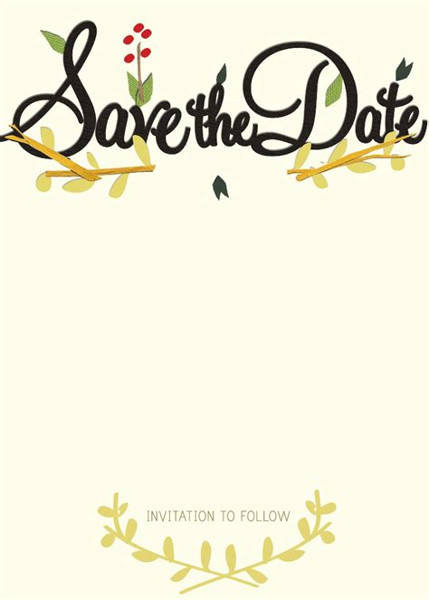 Save The Date Template by Ruffled Save The Date Eco Beautiful Weddings