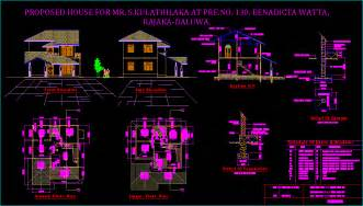 Free Blueprints For Houses housing design in autocad drawing bibliocad