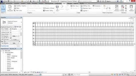 revit tutorial schedule creating a column schedule