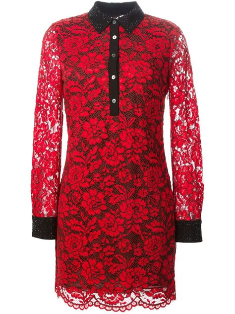 Lace Dress Tosca Blouse diane furstenberg floral lace shirt dress in lyst