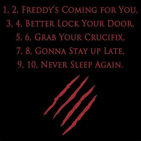 horror film quotes mp3 freddy rhyme in a nightmare on elm street 1984