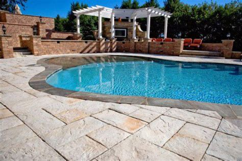 Unilock Yorkstone Unilock Patio And Pool Deck With Yorkstone Paver Photos
