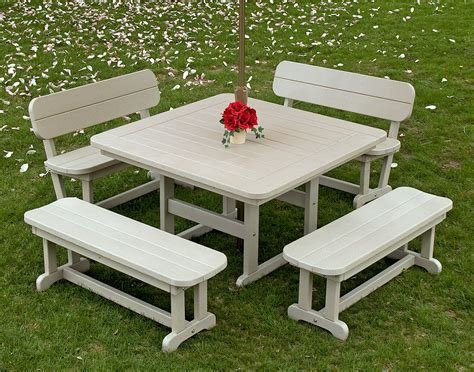 polywood commercial square picnic table