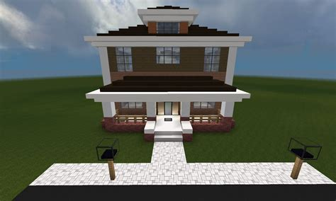 Amazing House Blueprints For Sale #8: Minecraft_huis_country_461_front.jpg