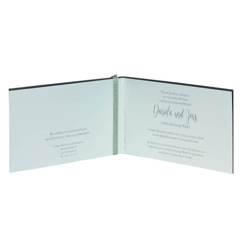 Hochzeitseinladung Grau by Einladungskarte Hochzeit Quot Avaline Quot Grau Gr 252 N Klappkarte