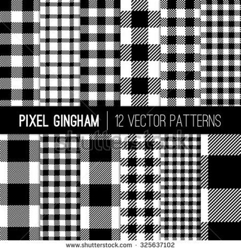 gingham vs plaid vs tartan black and white gingham patterns and buffalo check plaid