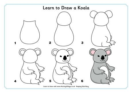 how to draw animals learn to draw for step by step drawing how to draw books for books learn to draw a koala
