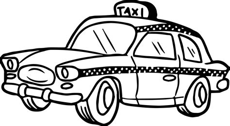 taxi car coloring page cute taxi driver car coloring page wecoloringpage