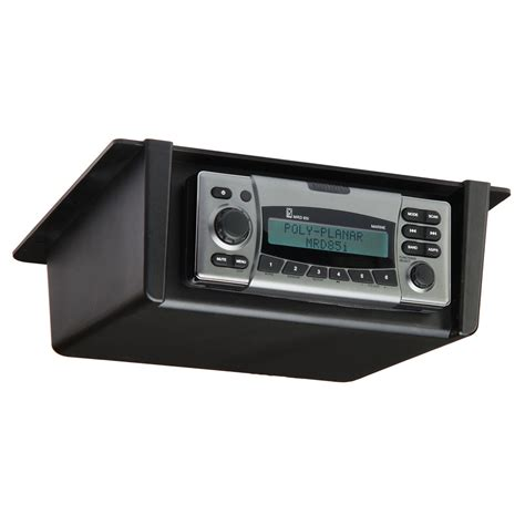 boat stereo case poly planar rm 10 black waterproof stereo enclosure