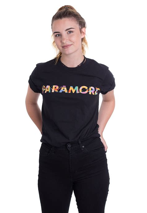 Tshirt Paramour paramore colour swatch t shirt official pop