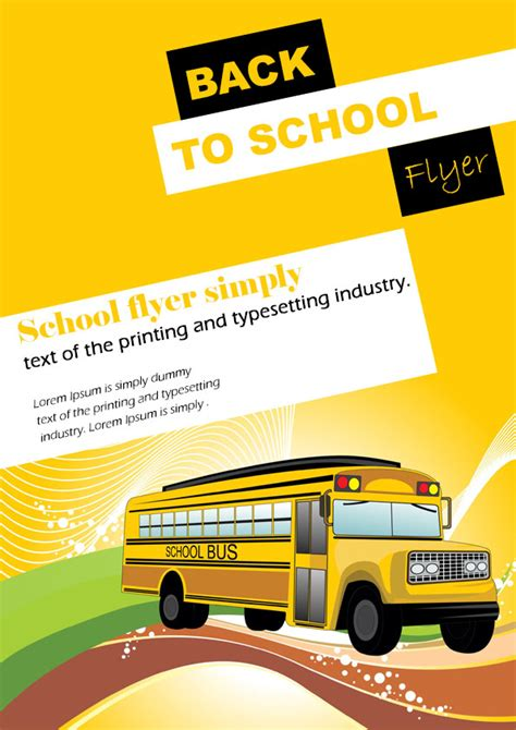 16 Impressive Back To School Flyers In Psd Word Ppt Templates Demplates Back To School Brochure Template Free