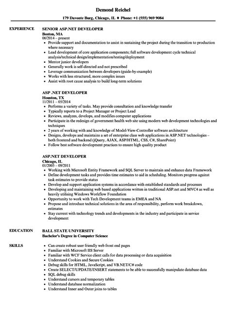 Net Developer Resume by Net Developer Resume Resume
