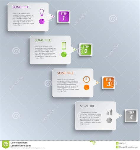 stepping design templates info graphic template vector illustration cartoondealer