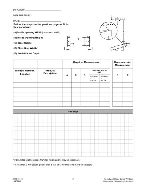 drapery measurement worksheet integrity all ultrex series windows insert application