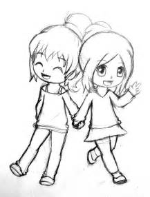 best friend anime chibi coloring coloring pages