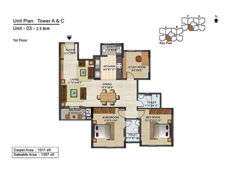 2 5 bhk floor plan floor plan 2 5 bhk 1357 sq ft ananya prop solutions