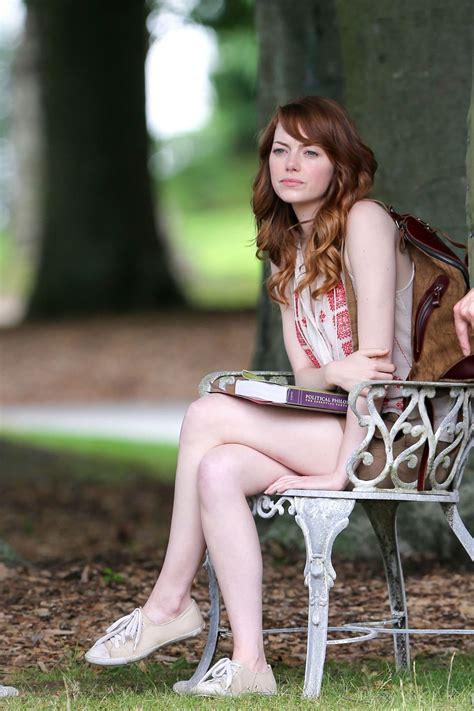 emma stone university emma stone on a film set in newport rhode island july 2014