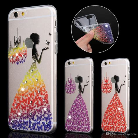 Beautiful Wedding Dress For Iphone 6g 6s cool beautiful wedding dress 3d butterfly printed