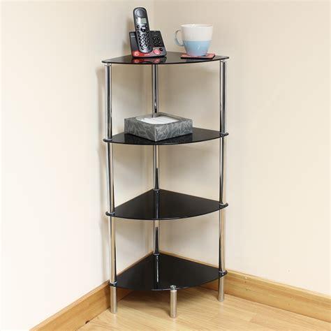 black side table with shelf hartleys 4 tier black glass corner side end table shelf