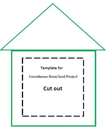 printable greenhouse greenhouse bean seed project template for gardening
