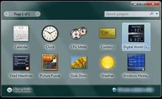 Computer Desktop Widgets Windows 7 World Clock Gadget