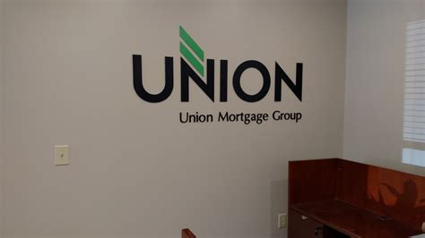 union mortgage flat cut aluminum letters signergy