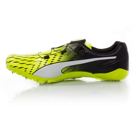 track shoes evospeed disc 3 mens yellow running field track