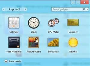 comment des gadgets windows 8