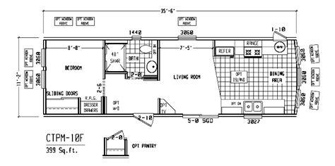 one bedroom mobile home floor plans single wide trailer floor plans 3 bedroom