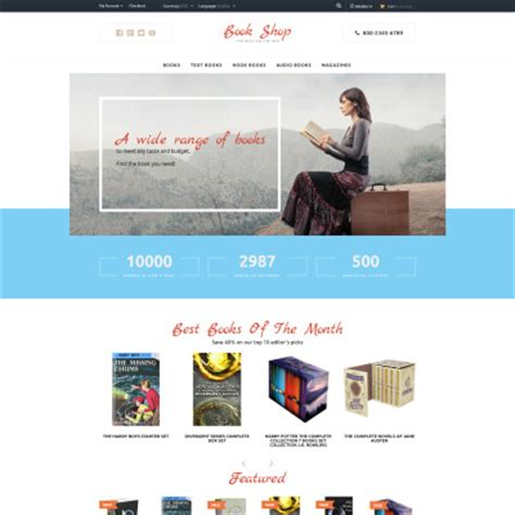 Opencart Bookstore Template by Education Books Opencart Templates Templatemonster