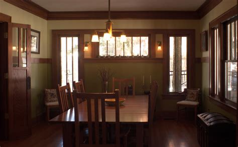 craftsman dining room design ideas remodels photos with arts and crafts kitchen and dining room