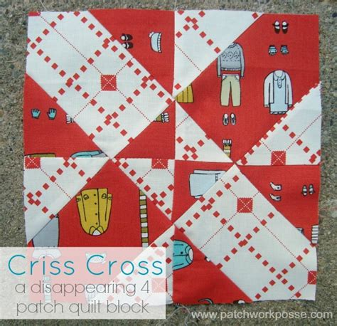 Disappearing 4 Patch Quilt Block by 4 Patch Disappearing Quilt Block