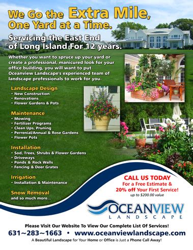 landscape flyer design couvers access ideas for landscaping flyers