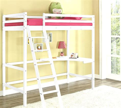 Cabin Bunk Bed Desk by High Sleeper Cabin Bed With Desk White Wooden Bunk