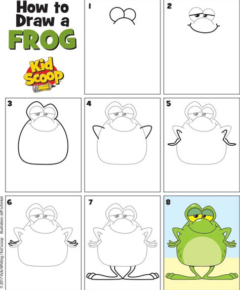 how to draw pdf how to draw a frog 2 kid scoop