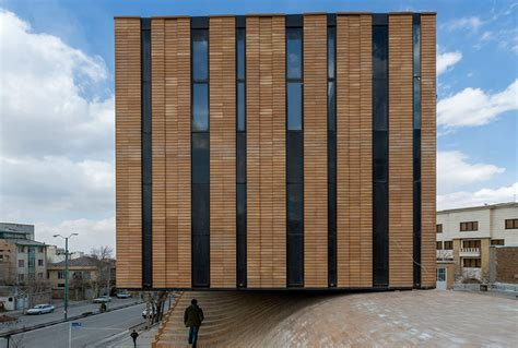 designing a building undulating brick roof of iran s termeh building is made