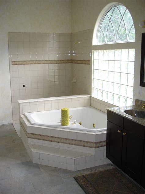 Garden Shower Tub Shower And Garden Tub With Almond 6 215 6 Ceramic Tile Tek