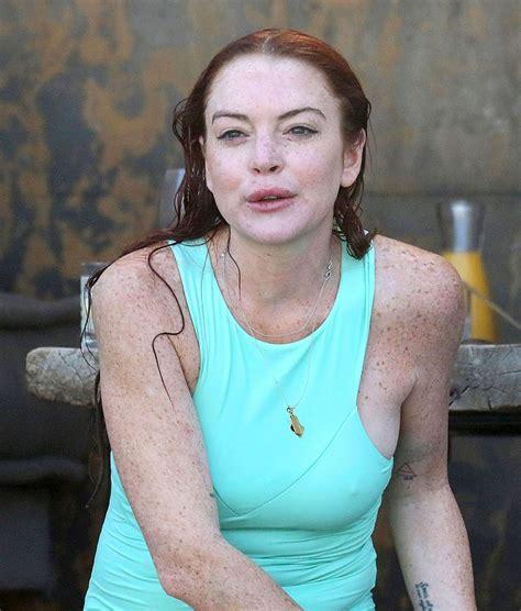 Lindsay Lohan by Lindsay Lohan In A Pool In Mykonos 07 24 2017