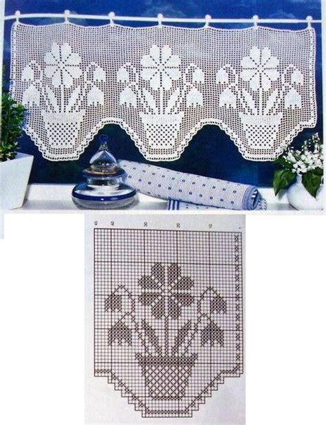 cenefas crochet las 25 mejores ideas sobre cortinas crochet en y